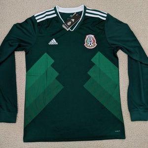 adidas Shirts - adidas Mexico Long Sleeve Home Jersey 124e326bc
